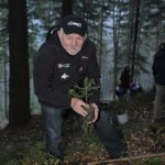 Karel Loprais and Libor Uher Planting Trees in Beskydy Mountains