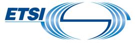 The European Telecommunications Standards Institute (ETSI)