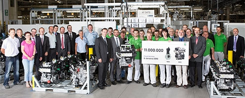 ŠKODA announced it produced eleven-millionth engine in its history