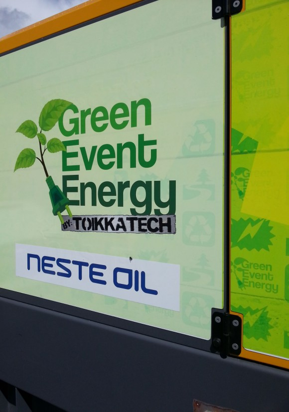 Neste Oil's NExBTL renewable diesel to generate the electrical power for the Down By The Laituri Festival in Turku, Finland July 24 and 28 2013