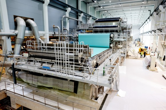 ANDRITZ announced Europe's largest new paper machine installed at Zellstoff Pöls, Austria