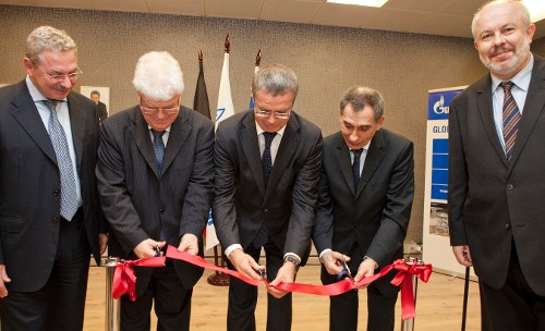 Anatoly Yanovsky, Vladimir Chizhov, Alexander Medvedev, Alexander Romanov and Andrey Kuznetsov, Director of Gazprom's representative office in Kingdom of Belgium