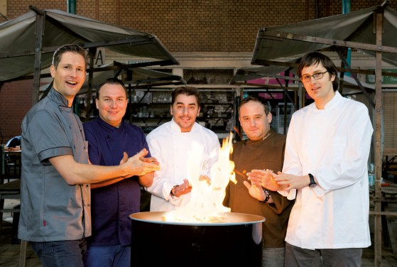 Star chefs Michael Kempf, Tim Raue, Jordi Roca, Matthias Diether and Daniel Achilles