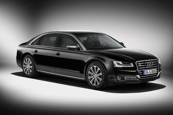 Audi unveils the most exclusive model version in its new A8 car line - the A8 L Security