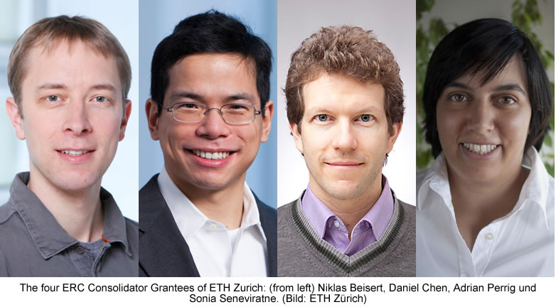 ETH Zurich researchers to receive almost CHF 9 million grant from European Research Council (ERC)