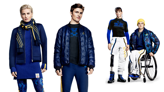 H&M announced Olympic Collection for the Swedish Olympic Team and the Swedish Paralympic Team at Sochi 2014