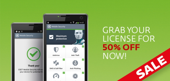 ESET's premium mobile security solution for Android smartphones and tablets ESET Mobile Security offered at 50% off before Mobile World Congress in Barcelona