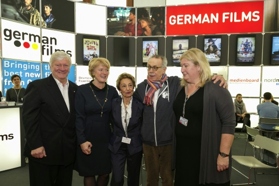 President of the German Federal Film Board (FFA) Eberhard Junkersdorf, Minister of State Monika Grütters, EFM Director Beki Probst, Festival Director Dieter Kosslick and EFM Co-Director Andrea Kaul