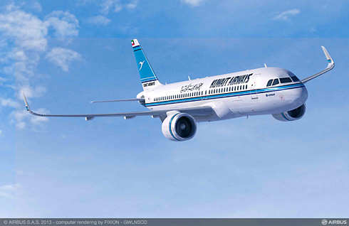 Kuwait Airlines firms up commitment for 25 Airbus aircraft: A320neo (c) Airbus