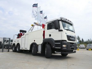 MAN delivered nine TGS 8x4 chassis for heavy recovery vehicles to service Sochi, Russia