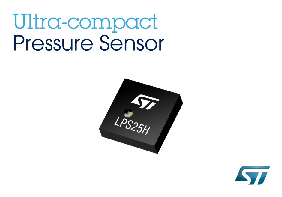 STMicroelectronics wins market share at leading smartphone manufacturers with its LPS25H miniature barometric pressure sensor