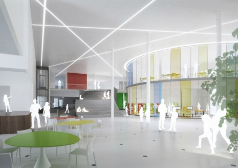 A new school campus. Visualisation: City of Lahti