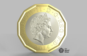The UK government announced the most secured coin in the world the new £1 coin