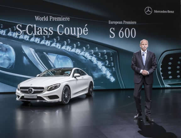 Mercedes-Benz at the Geneva International Auto Show 2014 - World Premiere of the Mercedes-Benz S-Class Coupe: Dr. Dieter Zetsche, Chairman of the Board of Management of Daimler AG and Head of Mercedes-Benz Cars, presents the S-Class Coupé in Geneva.