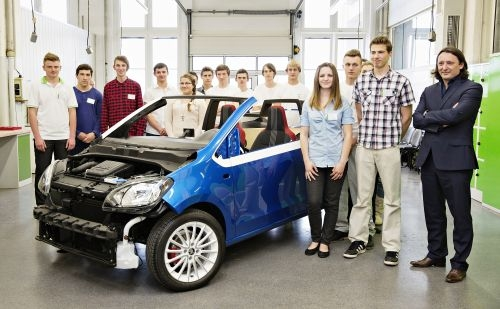 ŠKODA AUTO Vocational School apprentices build their dream car: sporty convertible ŠKODA CitiJet