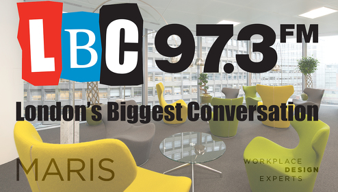 Maris Interiors launched radio campaign on LBC radio to help companies undertake the difficult step of relocating their offices