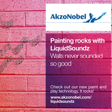 Paint pioneers AkzoNobel to launch ultrasonic coating that turns surfaces into surround sound speakers