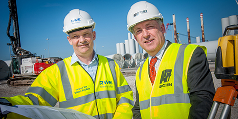 Stuart Quinton-Tulloch and Chris Whittaker at Port of Mostyn