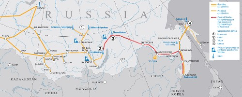 Developing gas resources and shaping gas transmission system in Eastern Russia