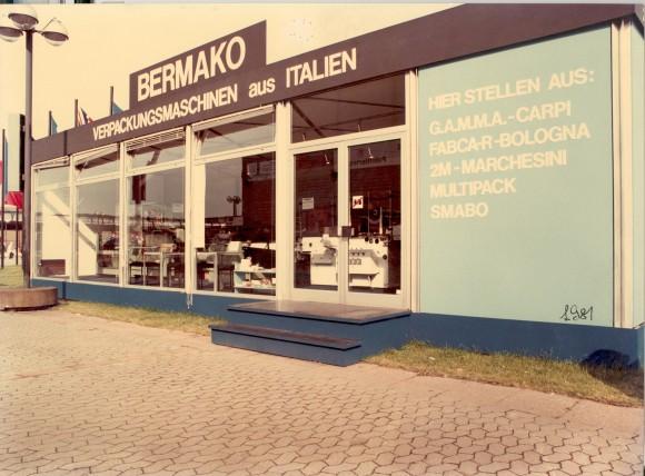 Presentazione della macchina BA400 alla fiera Ipack-Ima di Milano - 1979