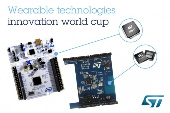 STMicroelectronics supports the Wearable Technologies Innovation World Cup in 2014/2015