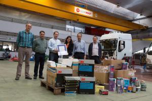 Productos de reparación y embellecimiento de carrocerías forman parte de la donación.