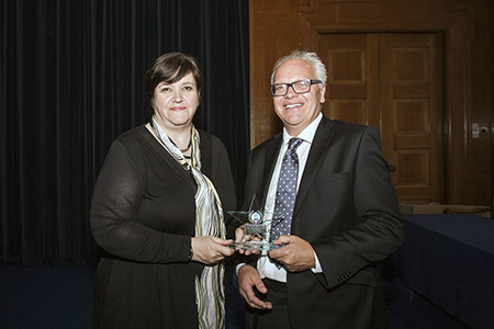Christine Ball with Paul Newdick CBE QC (Hons), Chairman of LawWorks Board of Trustees