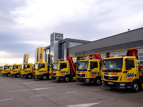 Croatian automobile association HAK adds eleven new MAN TGLs to provide swift roadside assistance in time for the big vacation season