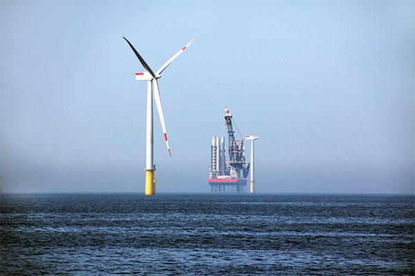 DanTysk offshore wind farm project reached the halfway stage: 40 out of the total of 80 wind turbines erected