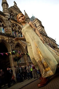 A six-metre-high puppet of Lady Godiva to stride across the University of Warwick campus to mark the opening of the International Federation for Theatre Research World congress