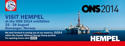 Hempel to participate in ONS exhibition in Stavanger, Norway, 25-28 August 2014
