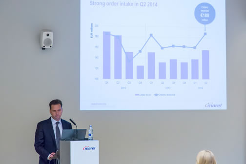 Marel presents Q2 2014 financial results