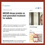Novartis published clinical trial results about novel and potent antimalarial drug candidate KAE609 (cipargamin)