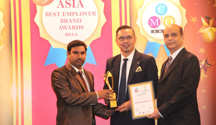 FrieslandCampina won Asia Pacific Best Sustainable Business Practice Award at the 4th CMO Asia Sustainability Excellence Awards 2014 in Singapore