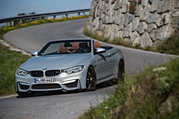 BMW M4 Convertible, BMW Individual Moonstone metallic, Interior in BMW Individual full leather trim Merino fine-grain Amaro ...
