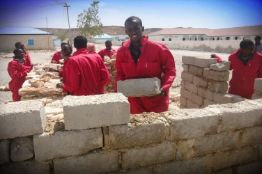 "Trainees in Ely, Somalia participate in a vocational training as part of the Joint Shipping Initiative funded UNDP ""Alternative Livelihoods to Piracy in Puntland and Central Regions of Somalia"" programme."