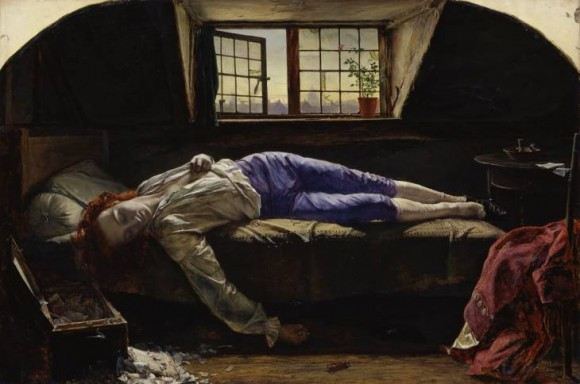 Henry Wallis Chatterton 1856 Oil on canvas support: 622 x 933 mm frame: 905 x 1205 x 132 mm Bequeathed by Charles Gent Clement 1899