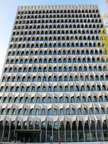 The high-rise building at the Darmstadt University of Applied Sciences in Germany won 'German Façade Prize' featuring aluminium façade solution from Sapa's Wicona