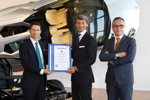 Volkswagen Group: Automobili Lamborghini obtains certification from TÜV for its carbon fiber car repair service, world's first within the automotive industry