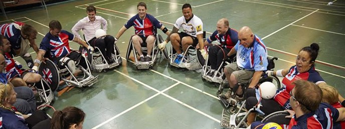 Wasps Rugby stars Bradley Davies and Alapati Leiua helped wounded warriors prepare for the Invictus Games presented by Jaguar Land Rover on September 10 at Queen Elizabeth Olympic Park