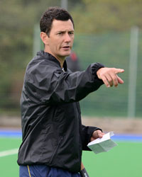 Australian international Jamie Dwyer visits Loughborough University to work with the performance hockey squads based on campus