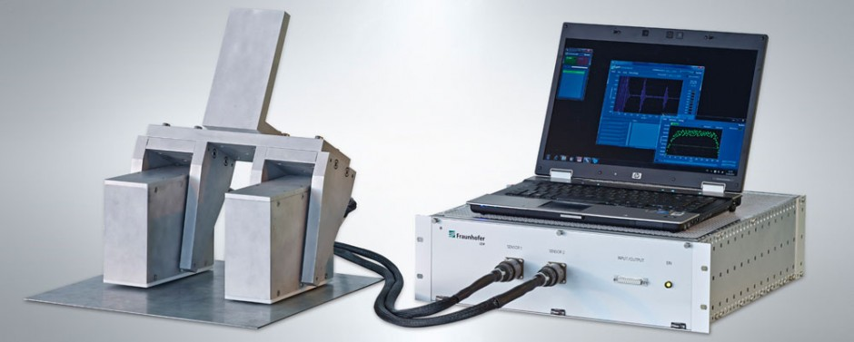 Hybrid micromagnetics/ultrasound inspection system. © Uwe Bellhäuser, Fraunhofer IZFP