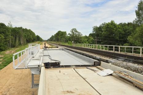 Construction of a second rail track. Photo: Māris Ozols, Latvijas Dzelzceļš