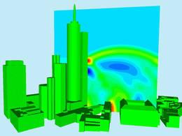Simulation of detonation shockwaves. (Photo: Lehrstuhl für Metallbau / TUM)