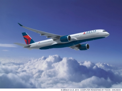 A350-900, Delta Air Lines. Delta Air Lines has placed a firm order for 50 new Airbus widebody aircraft, 25 A350-900 and 25 A330-900neo aircraft. Rolls-Royce Trent 7000 engines will power the Airbus A330neo aircraft and Trent XWB engines will power Airbus A350 XWB aircraft. (c) Airbus