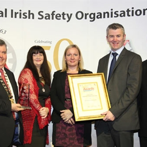 Pictured: Brendan Kelly, GRAHAM EQS Manager receiving the award.