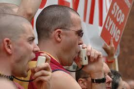 Protesters against Dalai Lama