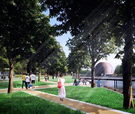 Zernike Campus promenade