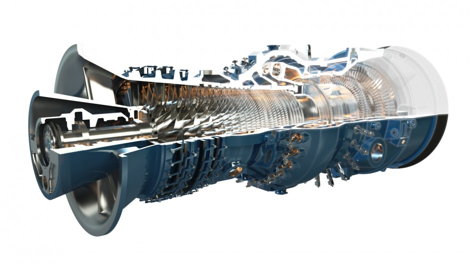 3D view of GT24/26 Gas Turbine