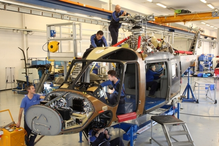 Finmeccanica's AgustaWestland announced that the new generation AW169 light intermediate 4.5-tonne class helicopter has entered full scale production